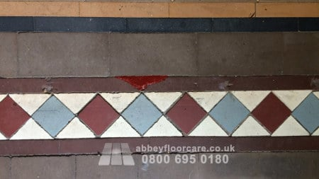 grouting victorian minton tiles in walsall west midlands