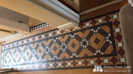 soiled minton tile floor in staffordshire