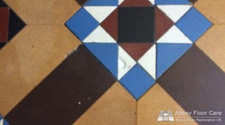 fill chips in minton tile floor in staffordshire