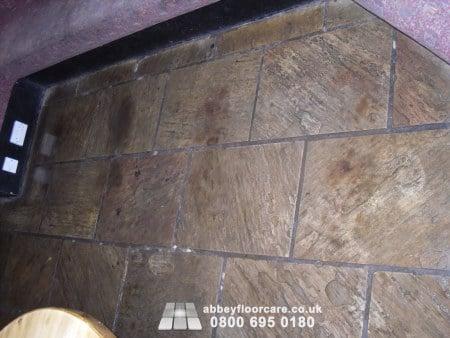 sandstone cleaning leek staffordshire - dirty floor