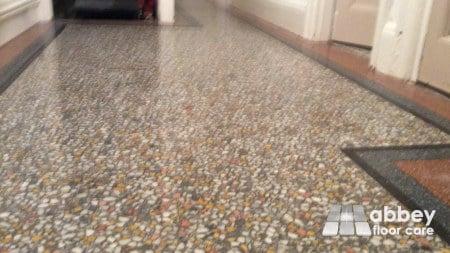 lovely polished terrazzo floor