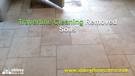 tumbled travertine lovely and clean