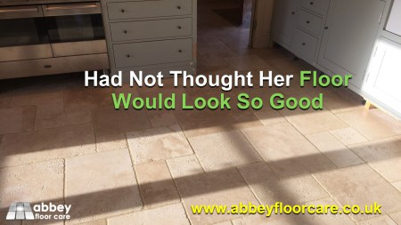 client did not think her floor would look so good again
