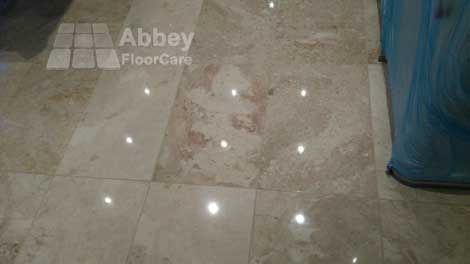 a marble floor in warwickshire cv34 polished to a beautiful shine