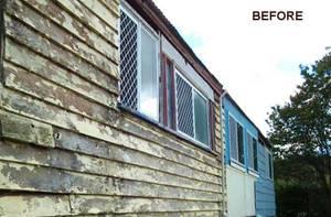 Abbey-Vinyl-Cladding-House Exterior Wall Before