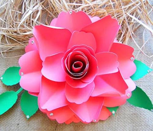Easy paper rose tutorial
