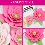 Easy Giant Paper Flowers Tutorial - Everly Style