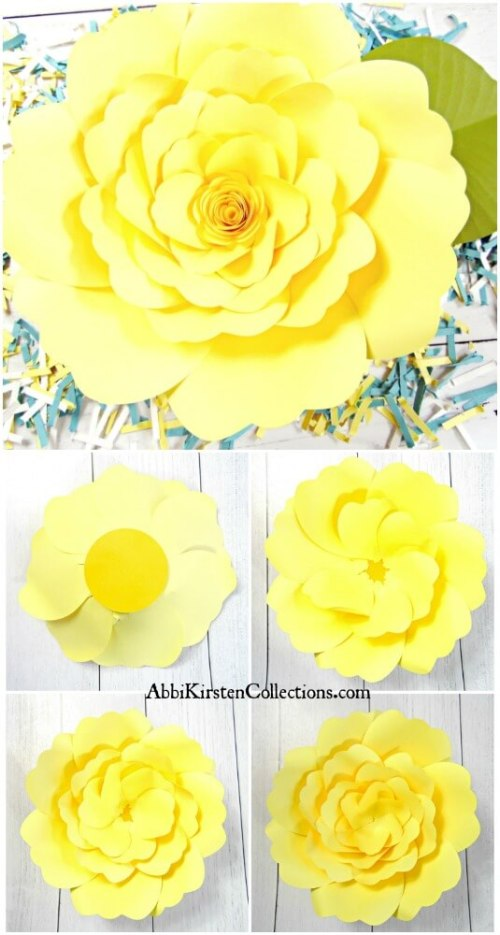 How to make giant paper flowers. How to make. Easy paper flowers.