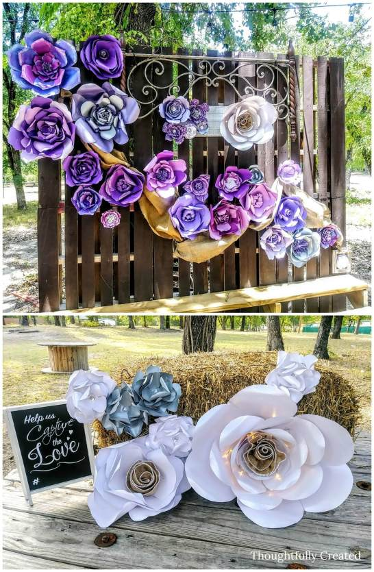How to make large paper flower backdrops