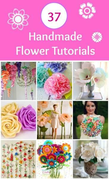 37 handmade flower tutorials