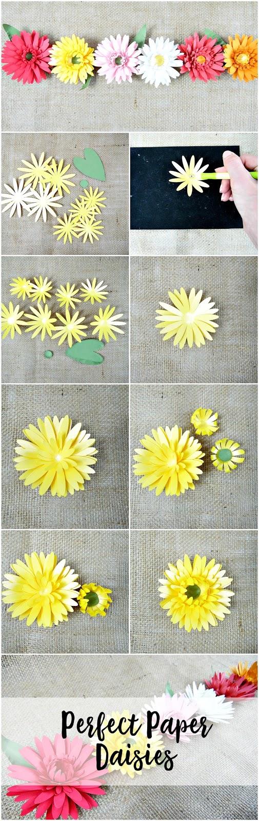 Perfect paper daisies. DIY paper flowers