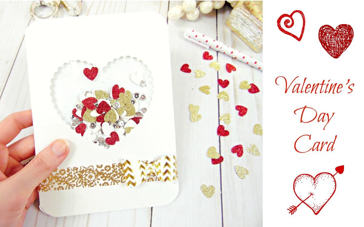 DIY Valentine's Day Confetti Card