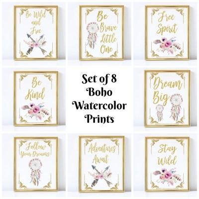 Freebie Friday- Boho Bold Prints