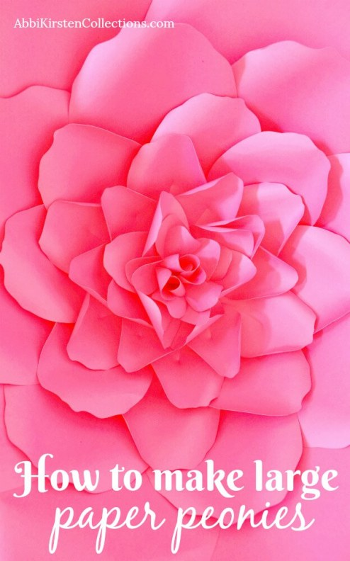 How to make large paper peonies