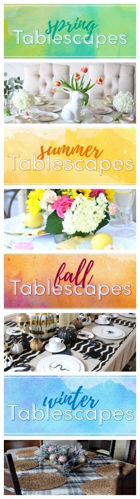 The best seasonal tablescape ideas. Home decor ideas. Tablescape ideas.