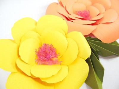 Giant Paper Flower Tutorials: DIY Large Hibiscus Flowers