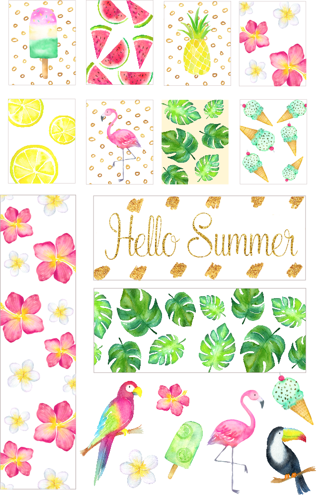 picture regarding Printable Stickers Free referred to as Totally free Printable Planner Stickers: Summer time Planner Stickers