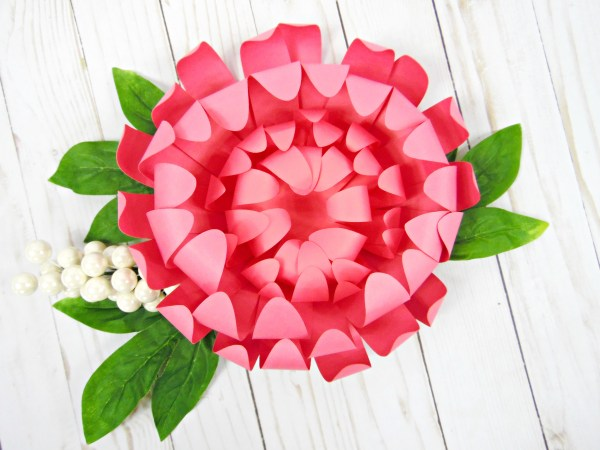 Diy chrysanthemum flower tutorial paper craft project mightylinksfo