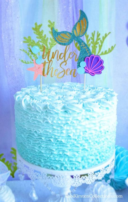 Mermaid Tail Cake Topper Diy Birthday Cake Topper Tutorial