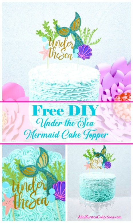 How to DIY a cake topper. Mermaid birthday decor.