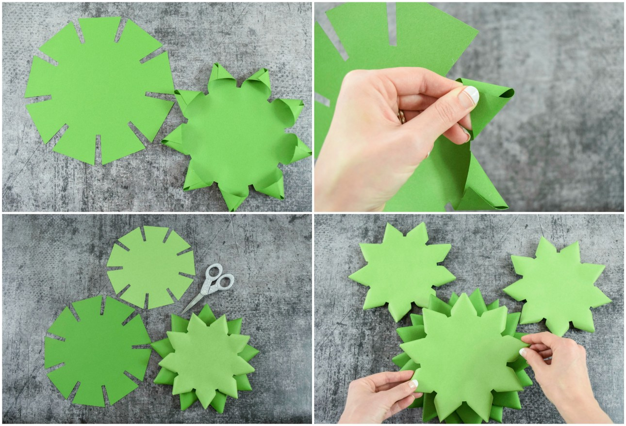 How to make a paper Christmas tree craft.