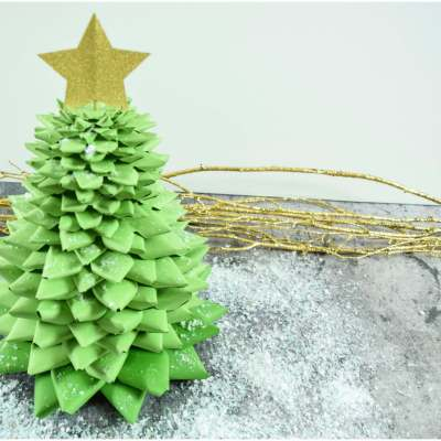 DIY Paper Christmas Tree Craft