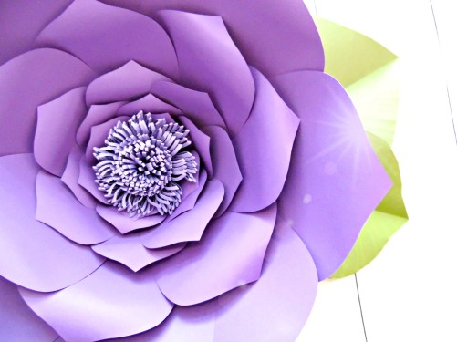 How to make giant paper flowers step by step tutorial how to make giant paper flowers mightylinksfo
