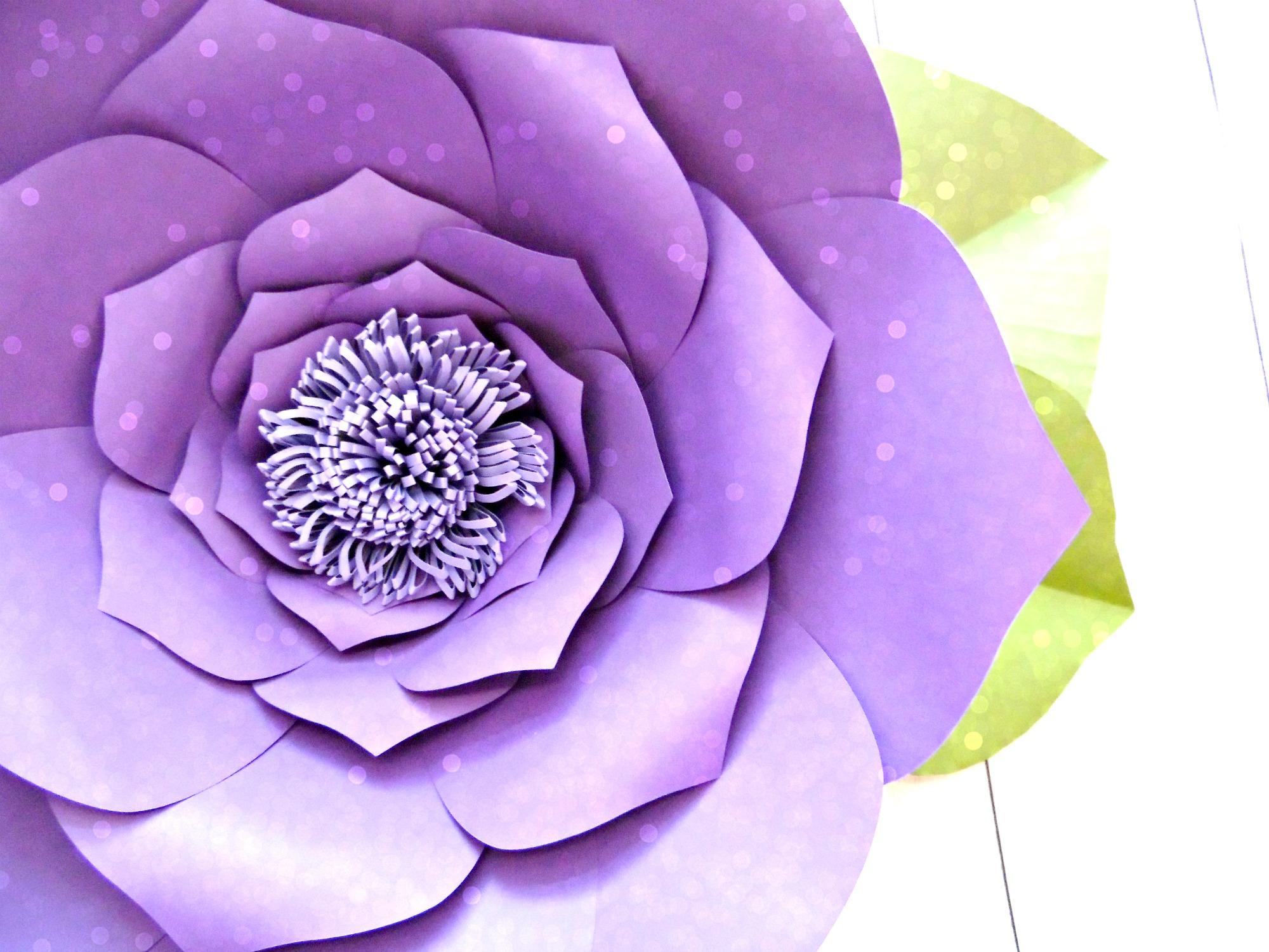 photo regarding Free Printable Flower Templates titled Free of charge Flower Template: How toward Produce Enormous Paper Bouquets