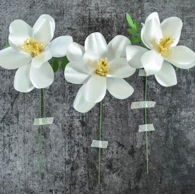 Southern Magnolia Paper Flower Template – Step by Step DIY Tutorial