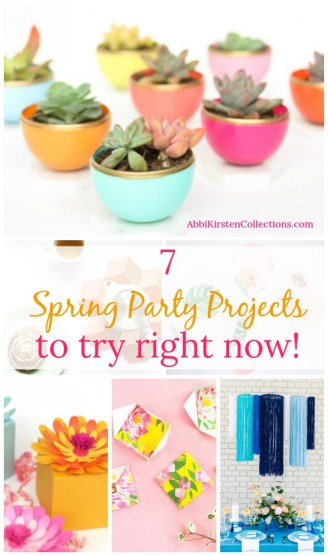 7 Diy Projects To Make Your Spring Party Pop Spring Party Decor