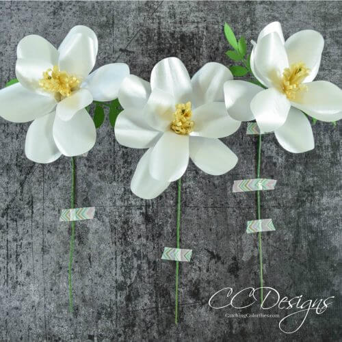 Southern Magnolia Paper Flower Template - Step by Step DIY Tutorial