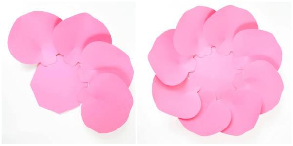 DIY paper rose template