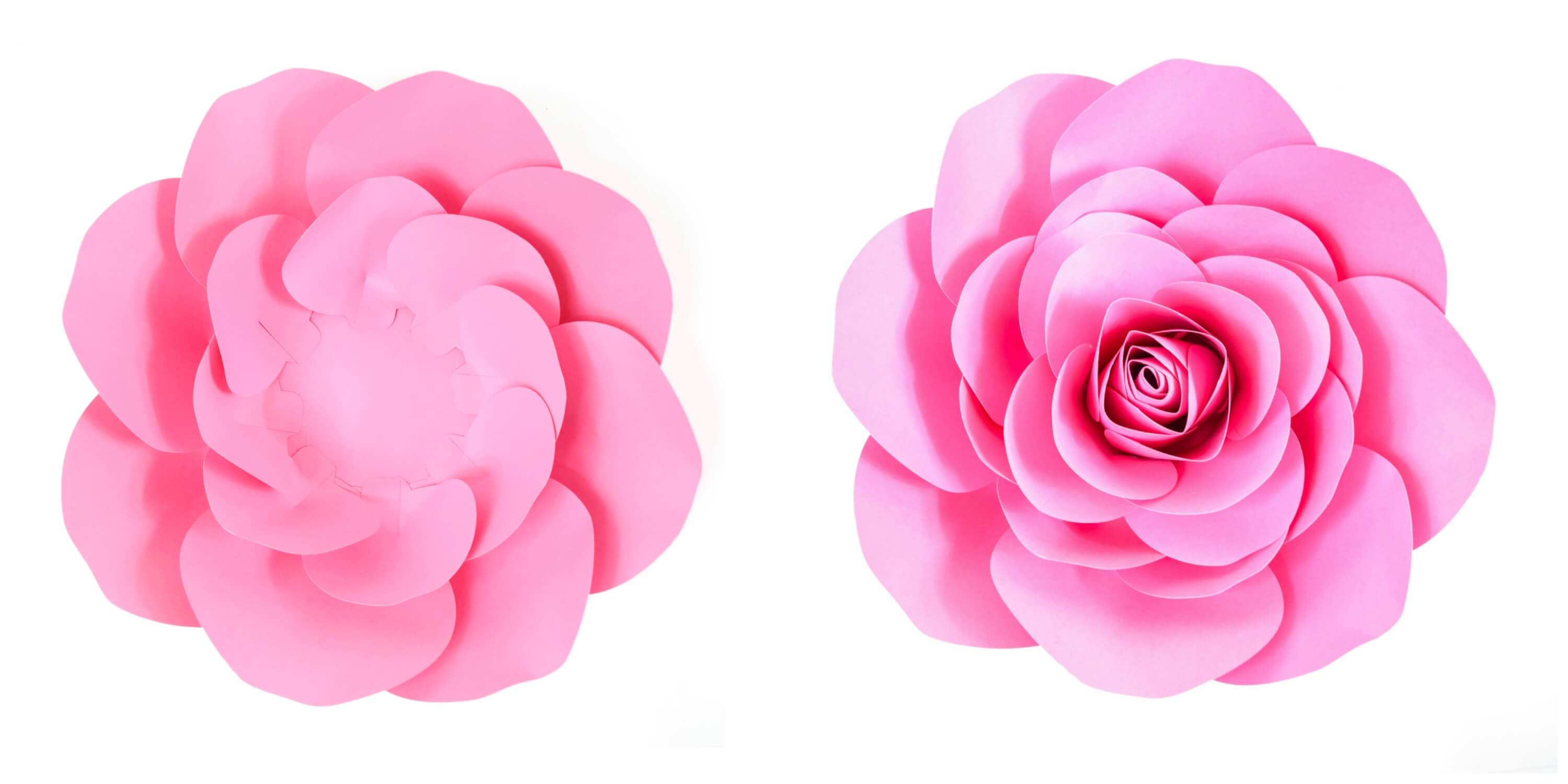photograph about Rose Template Printable known as Absolutely free Huge Paper Rose Template: Do it yourself Camellia Rose Guide