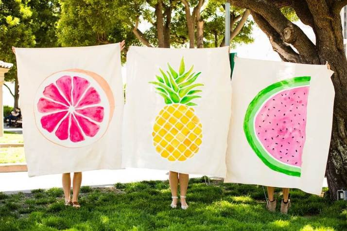 Dropcloth Picnic Blankets by Brit + Co