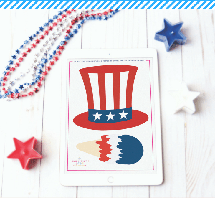 Friday Freebie: Fourth of July Photobooth Printables