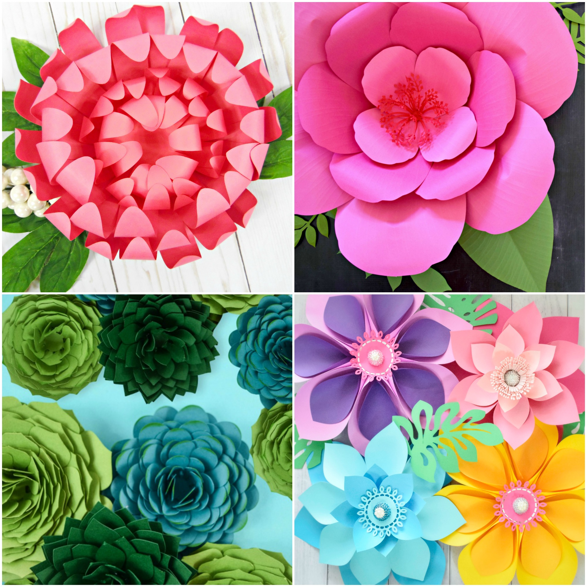 Summertime Paper Flower Roundup – The Best Paper Flower Tutorials