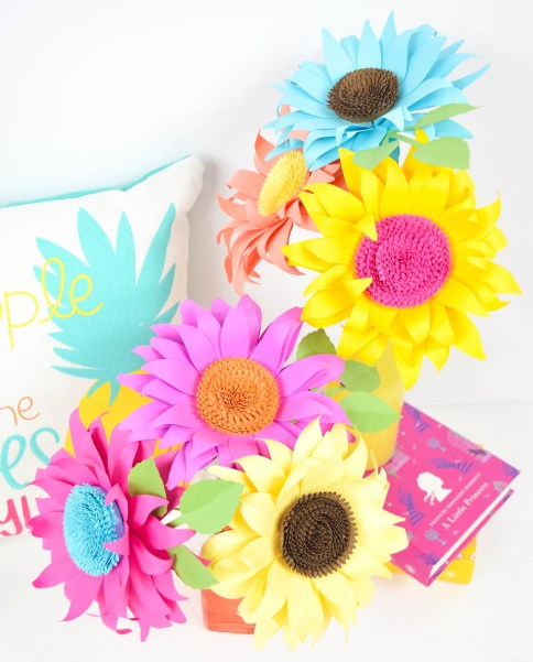 Paper Sunflower Tutorial: How to Make Classic Paper Sunflowers