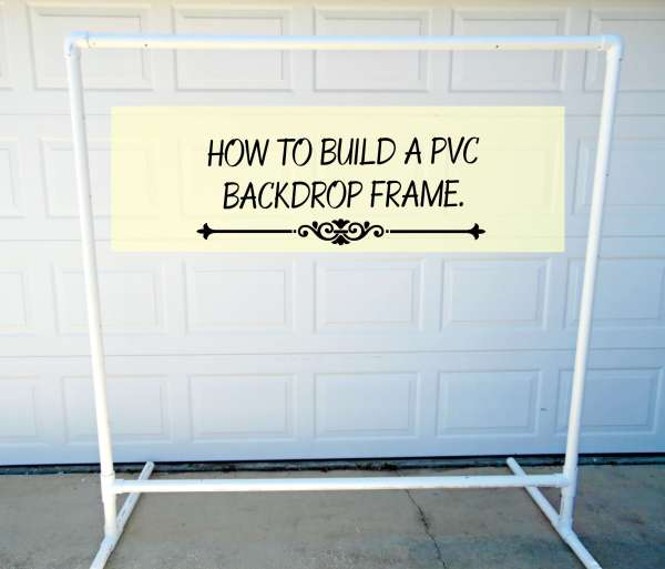 Freestanding Diy Pvc Backdrop How To Hang Your Paper Flowers