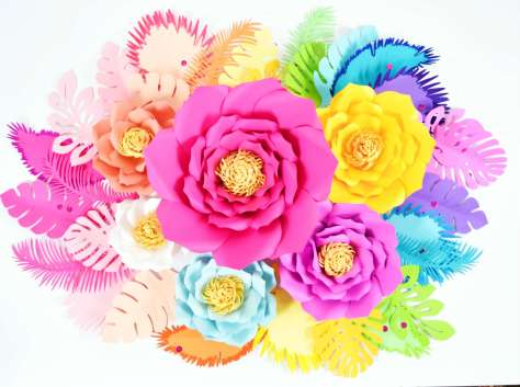 Large paper flowers for party decor.