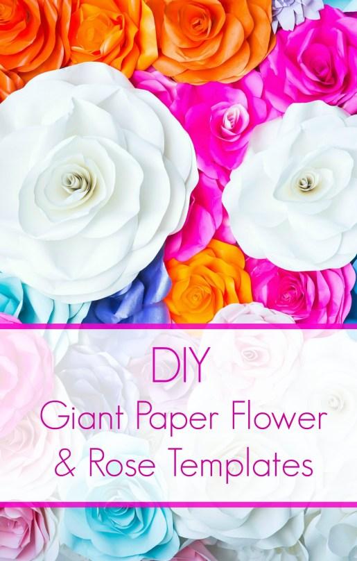 Paper Flower Templates Free Printable Pdf Template Svg Cut Files