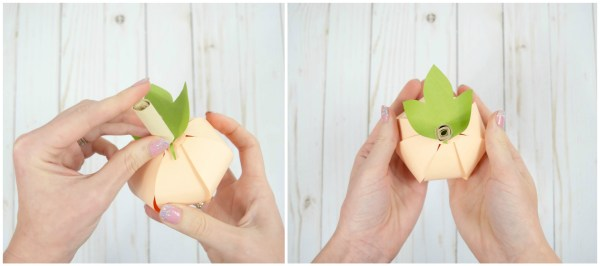 Paper Pumpkin Step-By-Step DIY Tutorial