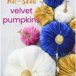 Easy DIY fabric velvet pumpkins