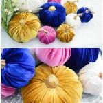 fabric velvet pumpkins