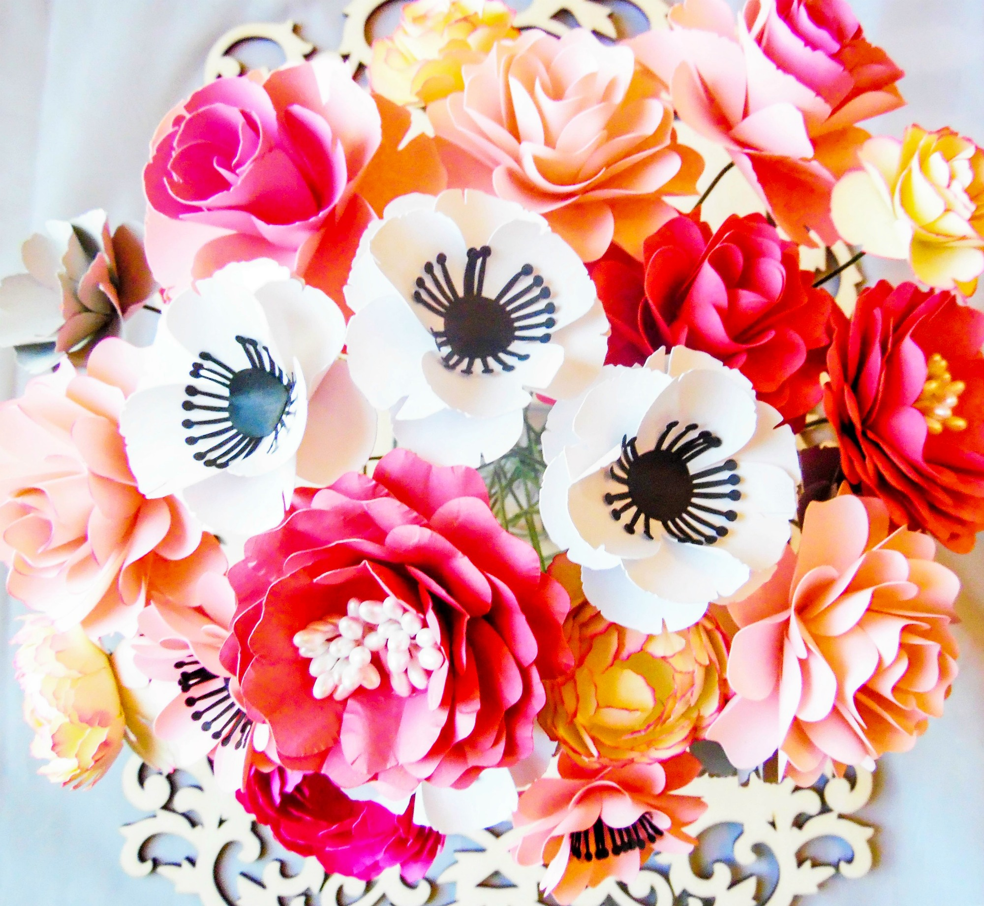 How To Make Stems For Paper Flowers Diy Paper Flowers