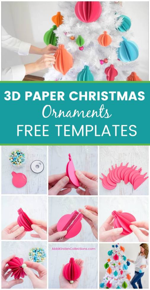 3d Paper Christmas Tree Template.3d Paper Christmas Ornaments Easy Tree Ornament Templates