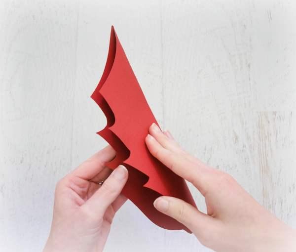 DIY Paper Noel Poinsetta Tutorial