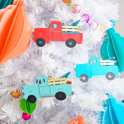 Vintage Christmas Truck Ornament DIY