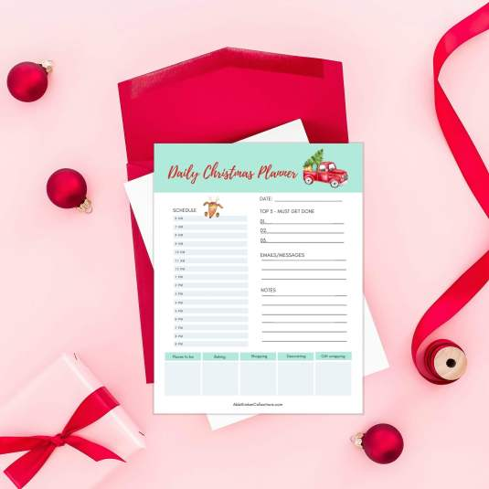 Holiday Christmas Planner Printable