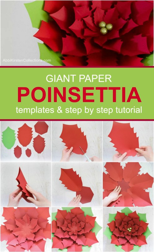 giant paper flowers. Poinsettia flowers.