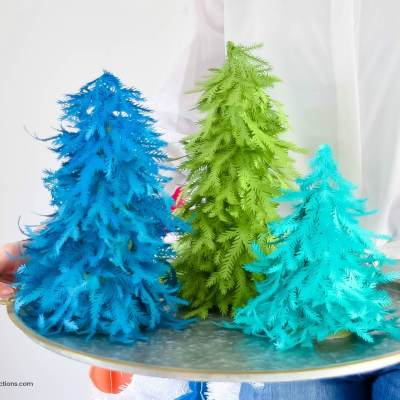 Paper Christmas Tree Craft: Free Christmas Tree Template